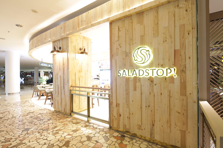 Salad Stop Gastronomi Modern Oleh High Street Modern Kayu Wood effect