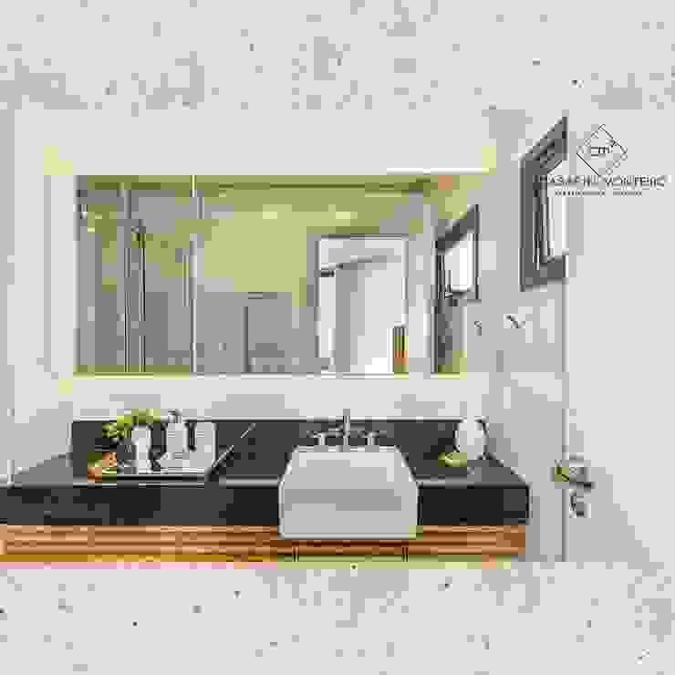 Flat Sampa - Banheiro Banheiros modernos por CASARIN MONTEIRO ARQUITETURA & INTERIORES Moderno Granito