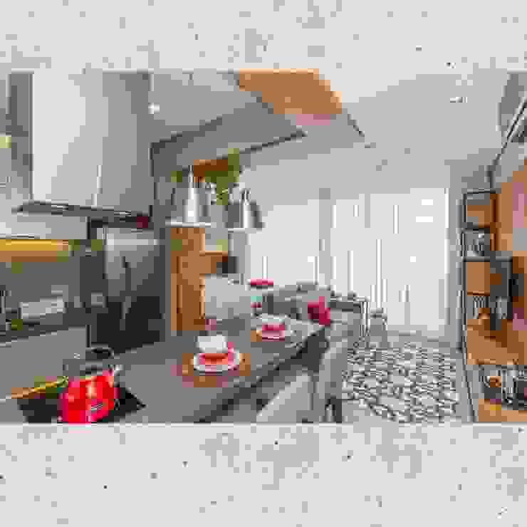 Flat Sampa por CASARIN MONTEIRO ARQUITETURA & INTERIORES Moderno Concreto