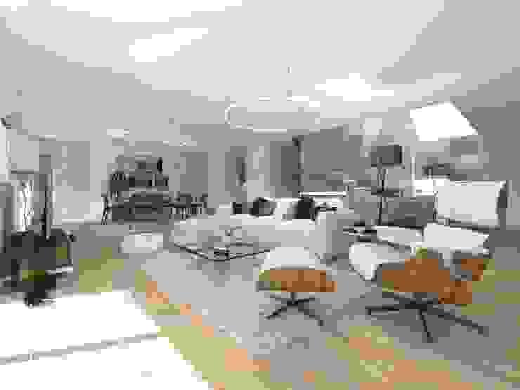 Moradia Unifamiliar - Quinta da Beloura, Sintra núcleo B arquitetos Salas de estar minimalistas