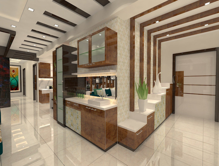 2bhk Flat Interior @Merlin Residency Rajarhat Kolkata : modern  by Creazione Interiors,Modern