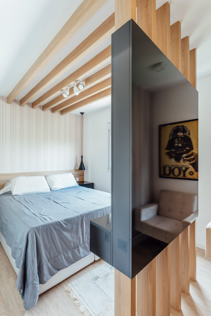 Camila Chalon Arquitetura Modern style bedroom