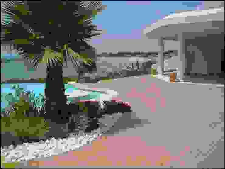 Kiinch Giardino con piscina PVC Effetto legno