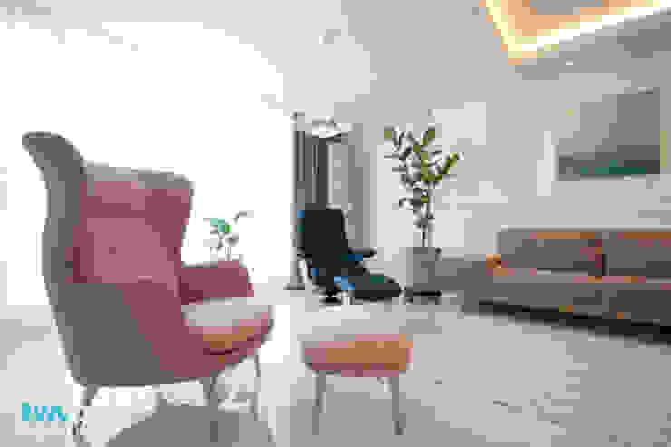 전주 신시가지 아이파크 아파트 인테리어 모던스타일 거실 by 디자인투플라이 모던