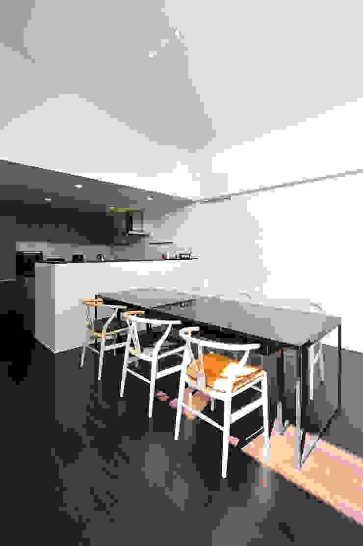 *studio LOOP 建築設計事務所 Sala da pranzo moderna