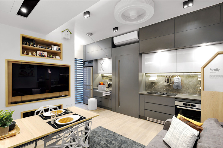 Sai Wan Ho, Hong Kong, Interior Design by Darren Design Eclectic style kitchen by Darren Design & Associates 戴倫設計工作室 Eclectic