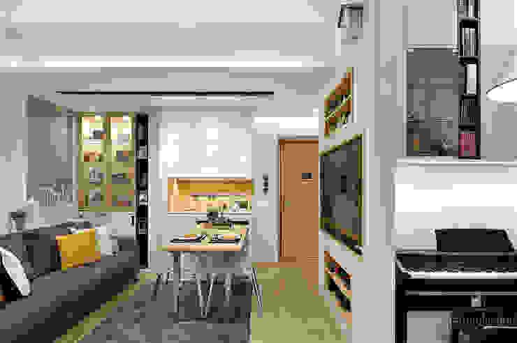 Sai Wan Ho, Hong Kong, Interior Design by Darren Design Eclectic style dining room by Darren Design & Associates 戴倫設計工作室 Eclectic