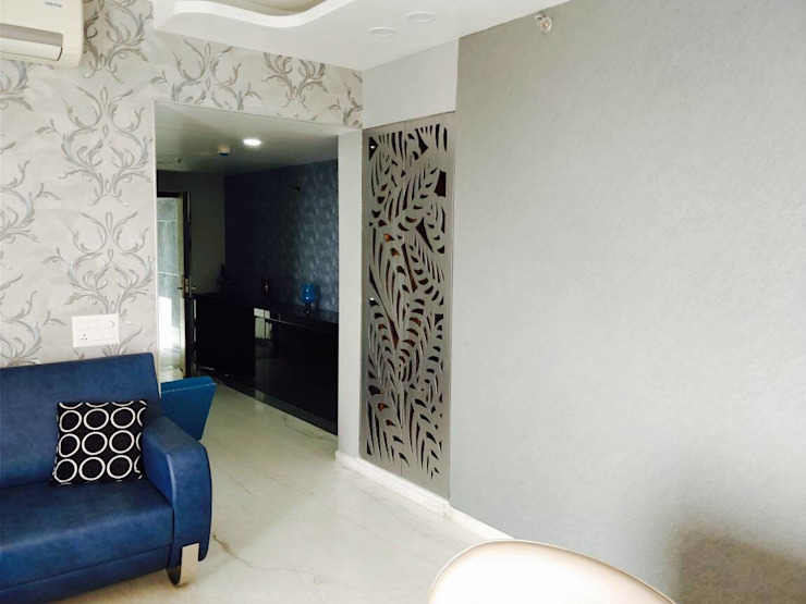 mandir door jali: eclectic  by EdgeHomes Architects,Eclectic Wood Wood effect