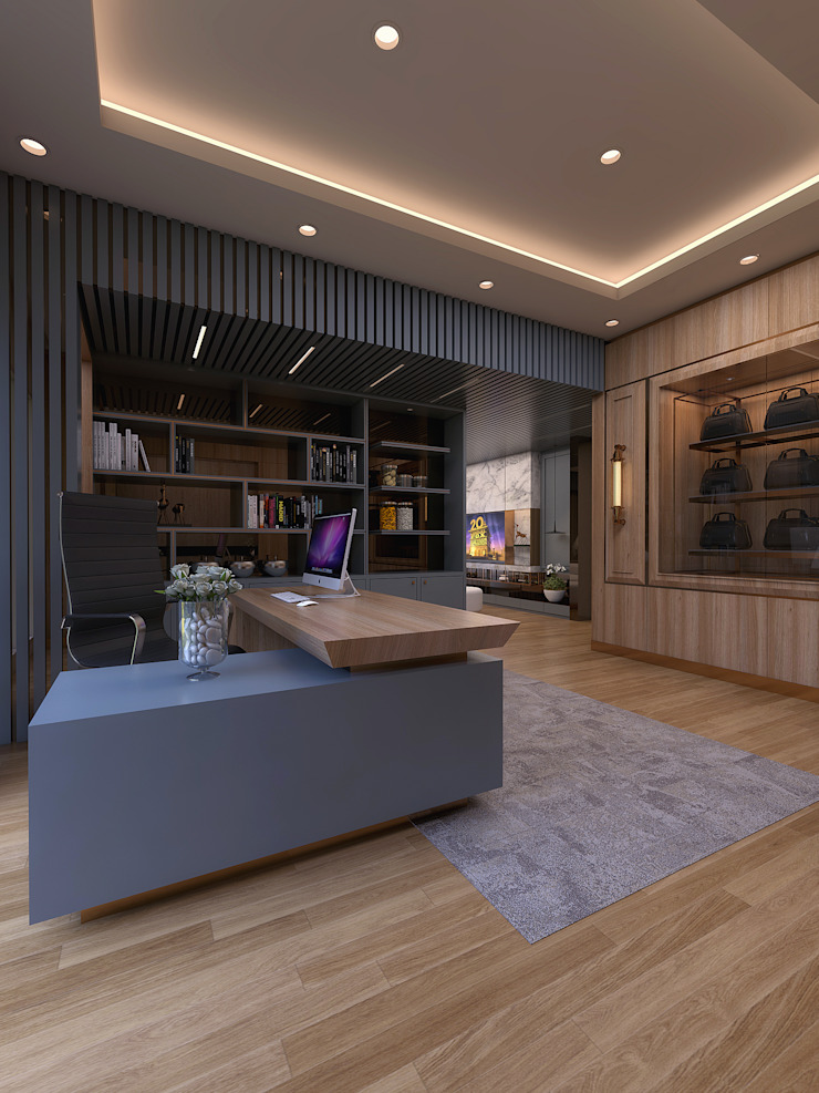Study room:modern  oleh Magna Mulia Mandiri, Modern Kayu Wood effect