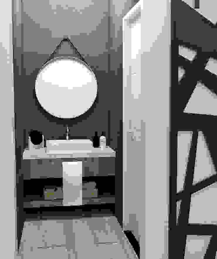 ANTEBAÑO Baños minimalistas de JACH Minimalista Concreto reforzado