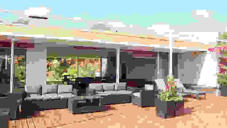 TAG Minimalistischer Balkon, Veranda & Terrasse Holz