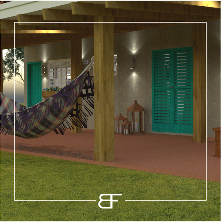 by Brancaccio & Fortuna - Arquitetura e Engenharia Country Wood Wood effect