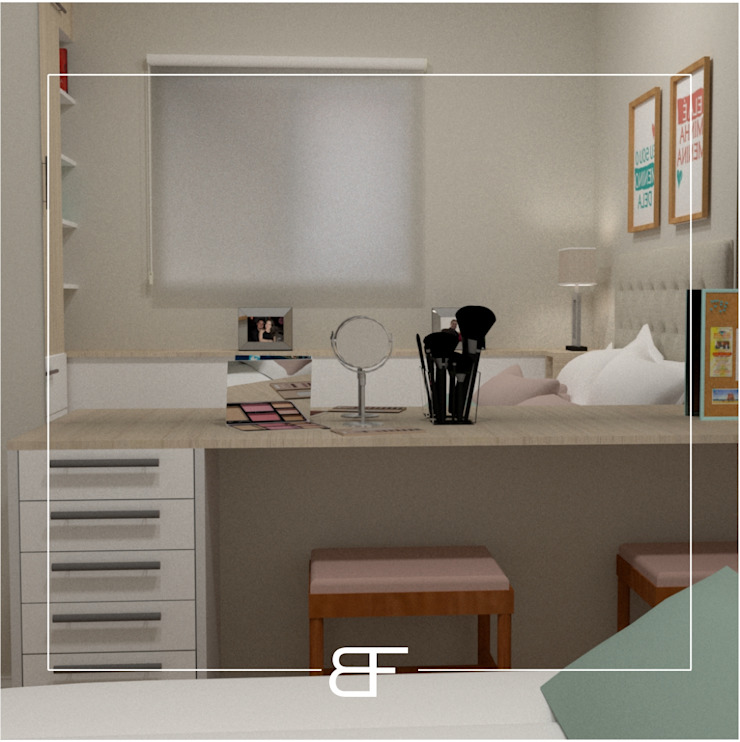 Modern style bedroom by Brancaccio & Fortuna - Arquitetura e Engenharia Modern MDF