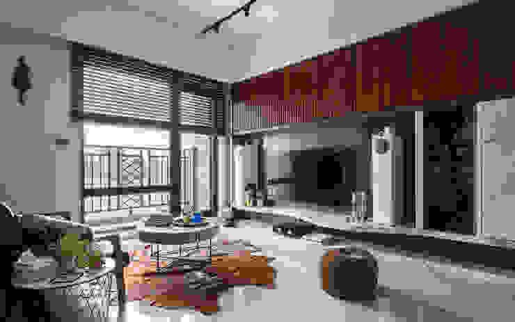living room DYD INTERIOR大漾帝國際室內裝修有限公司 Asian style living room
