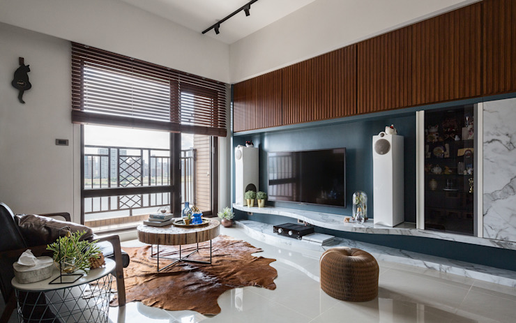 Salas / recibidores de estilo  por DYD INTERIOR大漾帝國際室內裝修有限公司