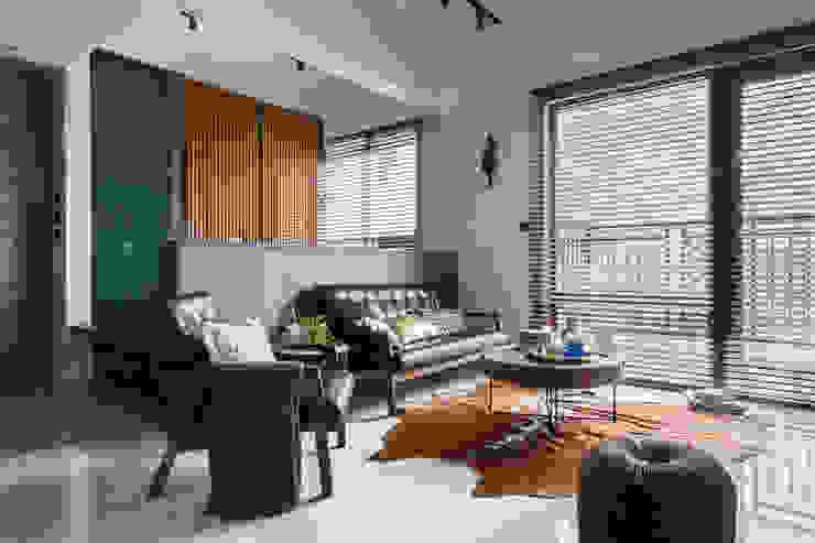 living room DYD INTERIOR大漾帝國際室內裝修有限公司 Living room