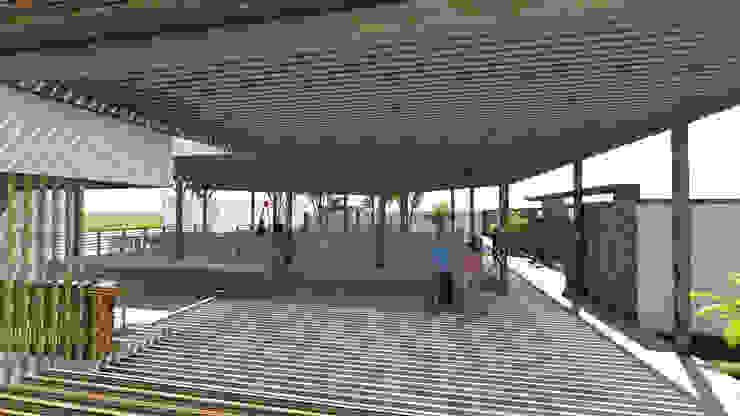 Vista pista de baile Jardines de invierno de estilo rústico de Kiuva arquitectura y diseño Rústico Bambú Verde