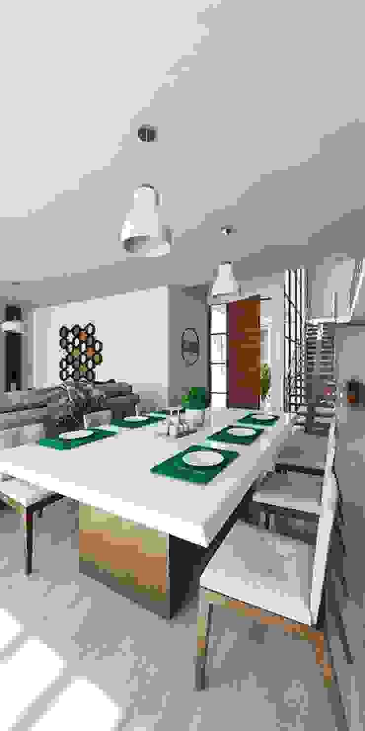 Kiuva arquitectura y diseño Comedores de estilo minimalista Mármol Blanco