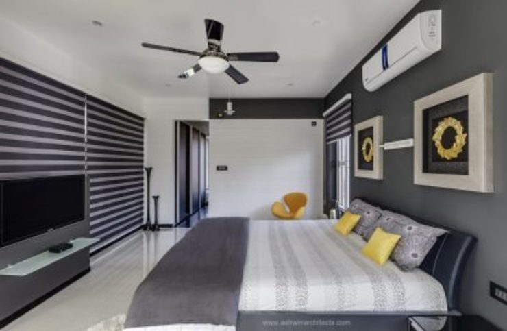 The Daylight Home | Luxurious 40×60 West Facing House Plans Design Modern style bedroom by Ashwin Architects In Bangalore Modern