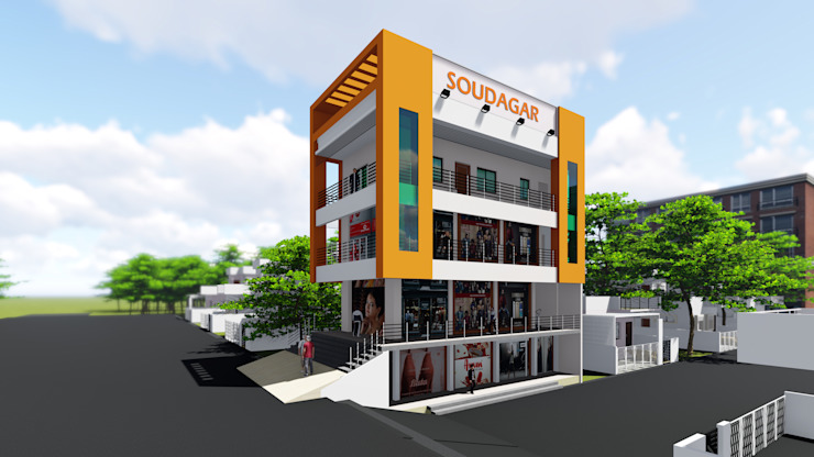 Side View by Cfolios Design And Construction Solutions Pvt Ltd