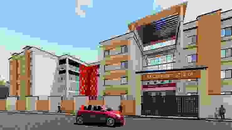 Excellent School 3D Elevation by Cfolios Design And Construction Solutions Pvt Ltd