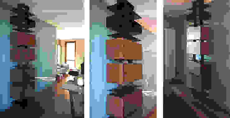 TOTEM CONTENITORE IN CORTEN di CDA studio di architettura Moderno