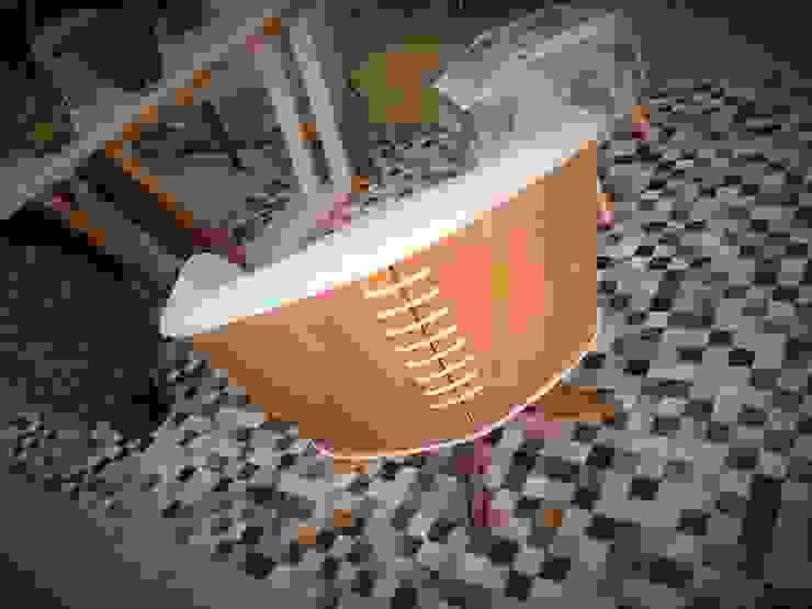 Poltrona Giratória com Personalidade por Sgabello Interiores Moderno Madeira Efeito de madeira