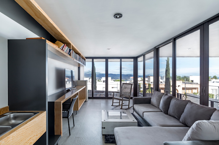Casa-estudio Choi CEC Estudios y despachos modernos de CUBO ROJO Arquitectura Moderno