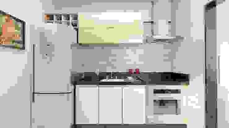 現代廚房設計點子、靈感&圖片 根據 AT arquitetos 現代風