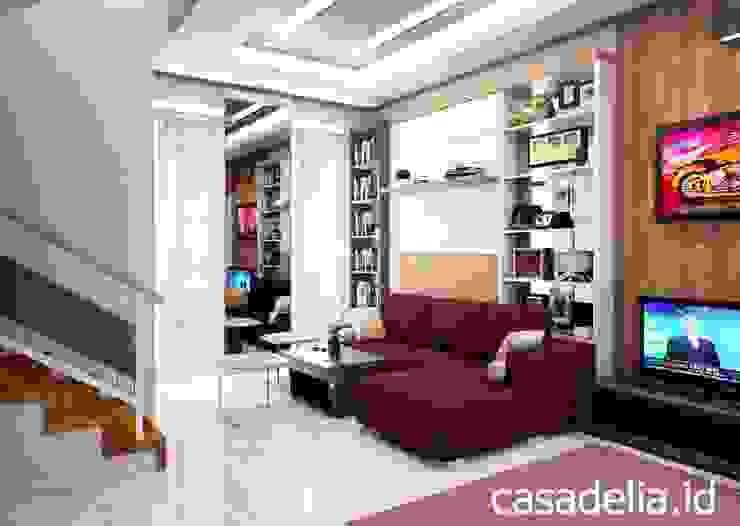 Minimalist corridor, hallway & stairs by Casa Delia Minimalist