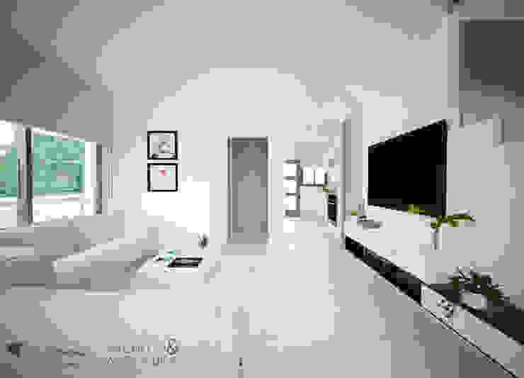 Salas / recibidores de estilo  por Pacheco & Asociados, Moderno