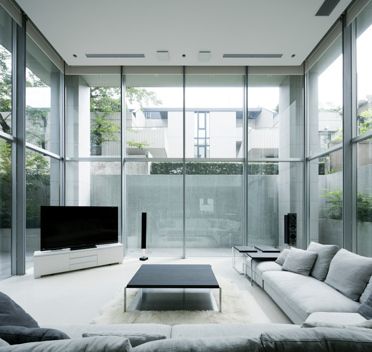 Living room by JWA,Jun Watanabe & Associates,