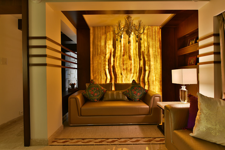 Mr. Doshi's Residence Modern living room by Banaji & Associates Modern