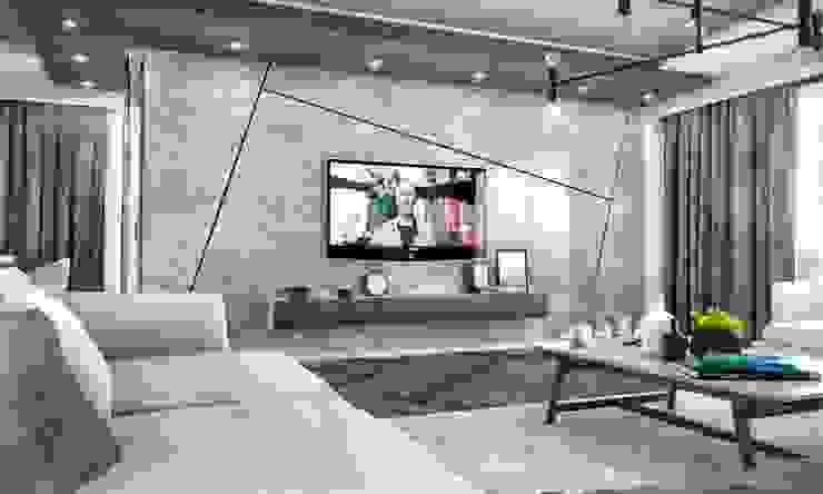 Kalafatoğlu Villa İç Mekan Modern Oturma Odası VERO CONCEPT MİMARLIK Modern