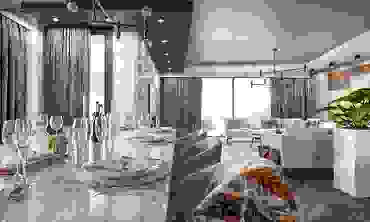 Kalafatoğlu Villa İç Mekan Modern Yemek Odası VERO CONCEPT MİMARLIK Modern