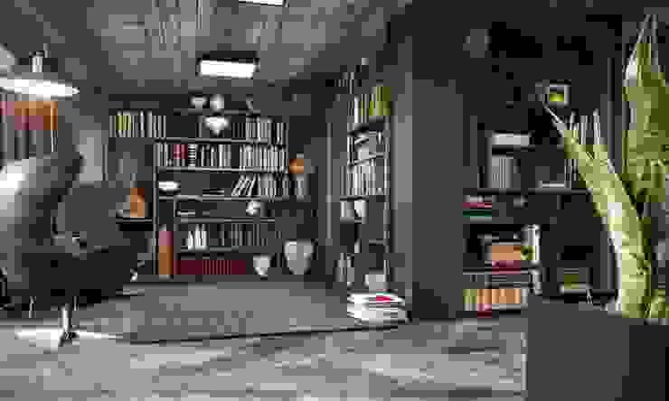Kalafatoğlu Villa İç Mekan Modern Çalışma Odası VERO CONCEPT MİMARLIK Modern