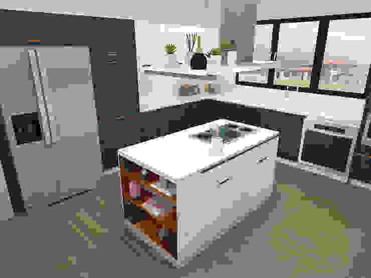 COCINA FINCA Cocinas de estilo minimalista de Espacio Arual Minimalista