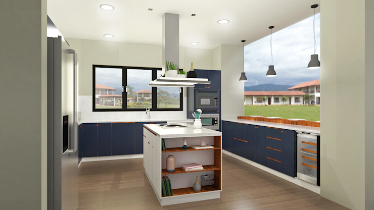 Cocinas de estilo minimalista de Espacio Arual Minimalista