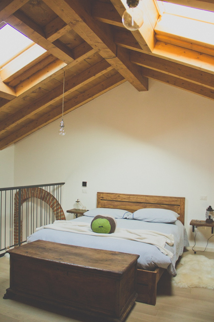 atelier architettura Country style bedroom