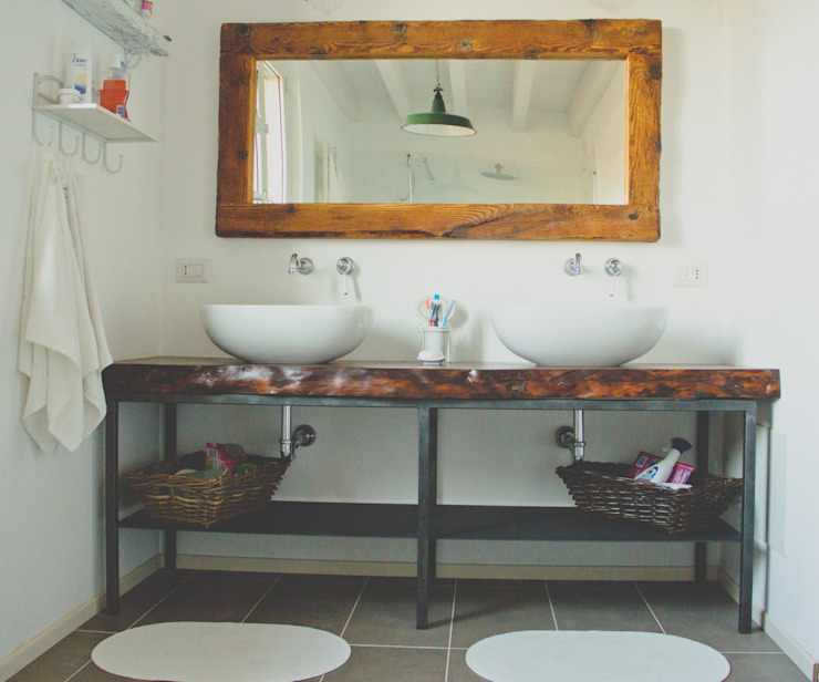 atelier architettura Country style bathrooms
