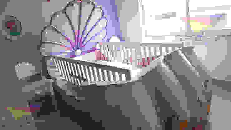 Preciosa cuna estilo concha de camas y literas infantiles kids world Clásico Derivados de madera Transparente
