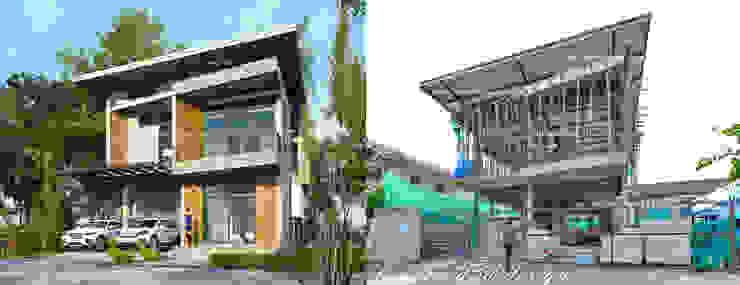 บ้านโมเดิร์นลอฟต์ 4ห้องนอน3ห้องน้ำ fewdavid3d-design บ้านเดี่ยว