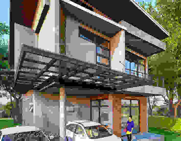 บ้านโมเดิร์นลอฟต์ 4ห้องนอน3ห้องน้ำ โดย fewdavid3d-design โมเดิร์น