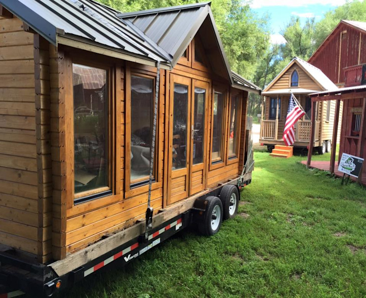 Mobile houses in USA Modern Study Room and Home Office by ERGIO Wooden Houses Modern