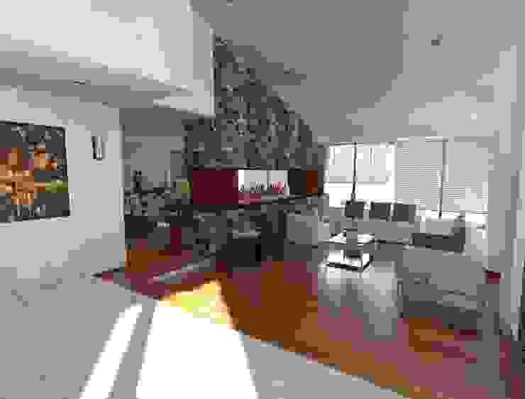 Diseño en 3D de la Estancia Salas de estilo moderno de CESAR MONCADA SALAZAR (L2M ARQUITECTOS S DE RL DE CV) Moderno