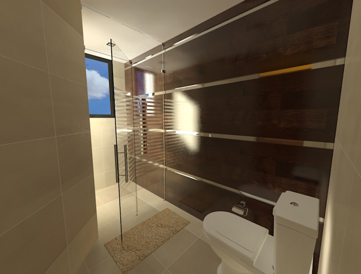Bathroom by CESAR MONCADA S, Modern