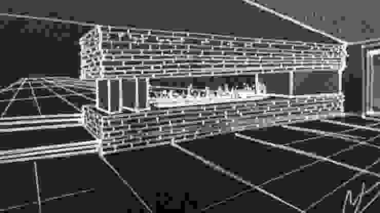 Boceto detalle muro en sala de CESAR MONCADA SALAZAR (L2M ARQUITECTOS S DE RL DE CV)