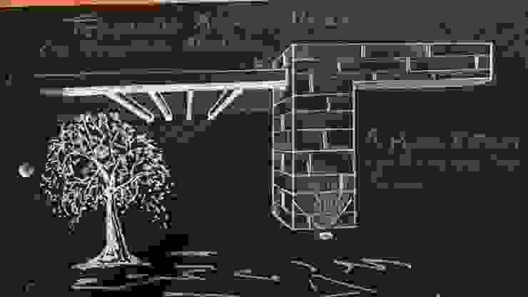 Boceto detalle muro y techo de CESAR MONCADA SALAZAR (L2M ARQUITECTOS S DE RL DE CV)