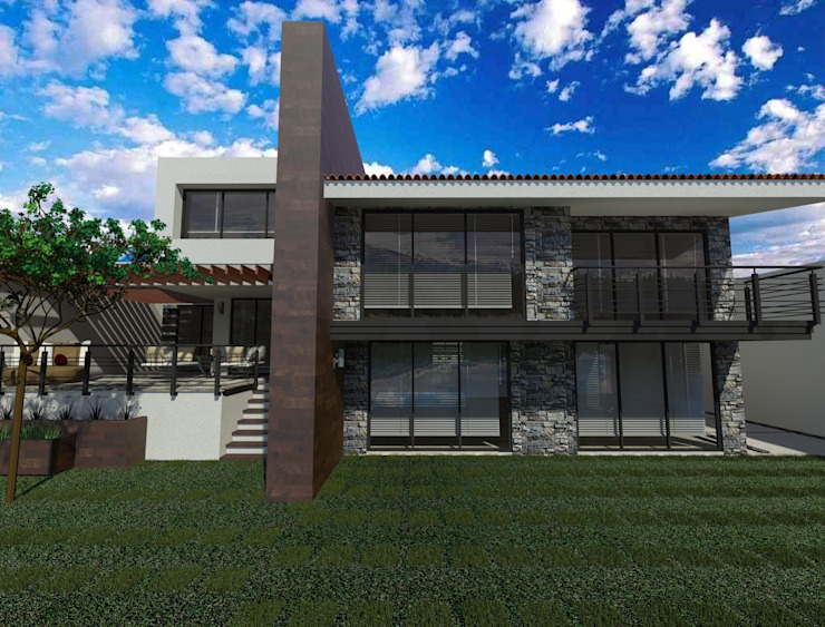 Diseño en autocad terraza de CESAR MONCADA SALAZAR (L2M ARQUITECTOS S DE RL DE CV)