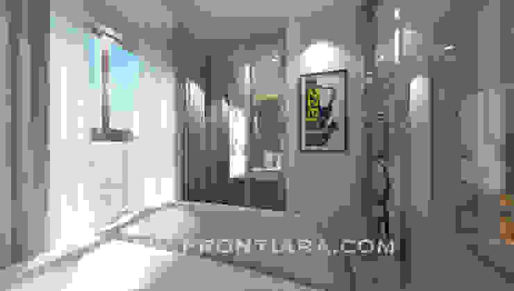 ตกแต่ง พลัมคอนโด รามคำแหง Prontiara ห้องนอน Brown